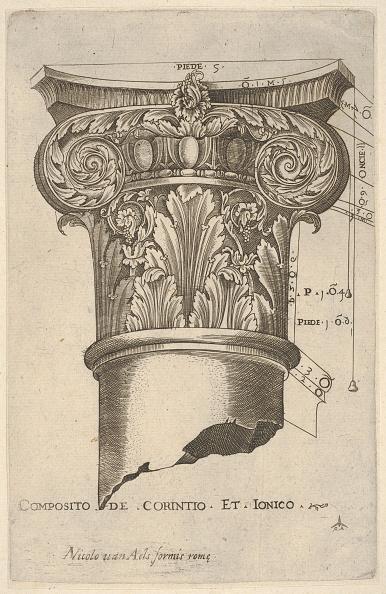 Architectural Column「Composite Capital With Measurements」:写真・画像(16)[壁紙.com]