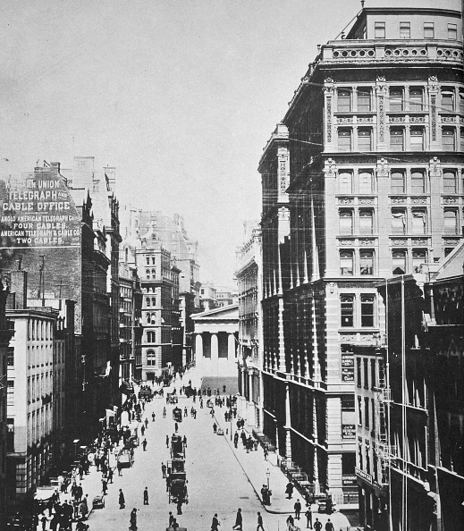 都市景観「Broad Street Looking Towards Wall Street New York City USA 1893」:写真・画像(17)[壁紙.com]