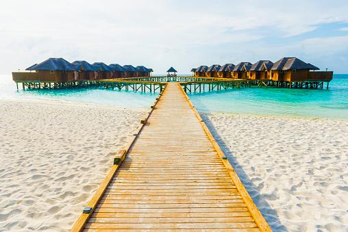 Bungalow「Water villas in the Maldives」:スマホ壁紙(2)