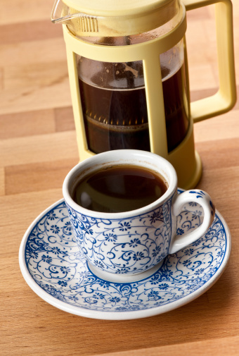 French Press「Coffee cup and french press」:スマホ壁紙(4)