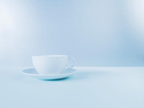 Blue Background「Coffee cup」:スマホ壁紙(16)