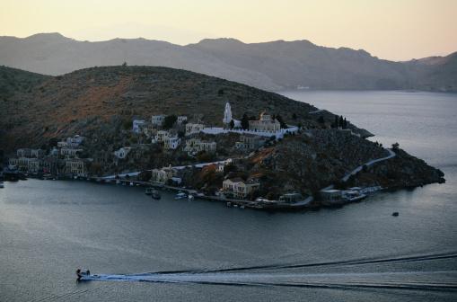 Aegean Sea「Symi, Greece -- Island Town」:スマホ壁紙(4)