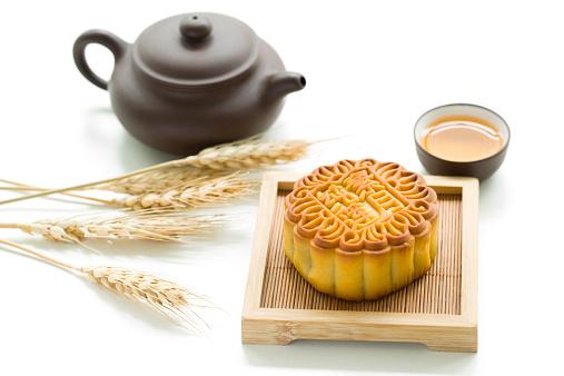 Dim Sum「Mooncake and tea」:スマホ壁紙(1)