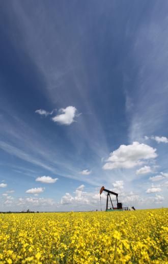 アブラナ「石油産業のアルバータ Pumpjack 付き」:スマホ壁紙(14)