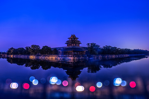 Multiple Exposure「The Imperial Palace watchtower night in Beijing 」:スマホ壁紙(9)