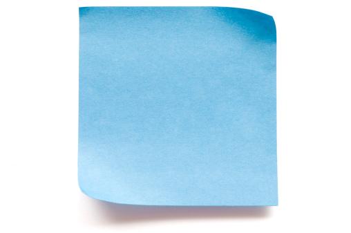 Imagination「Blank blue postit note paper」:スマホ壁紙(0)