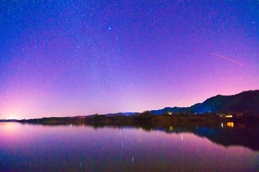 star sky「Nian Lake night of Huize County,Yunnan Province,China」:スマホ壁紙(4)