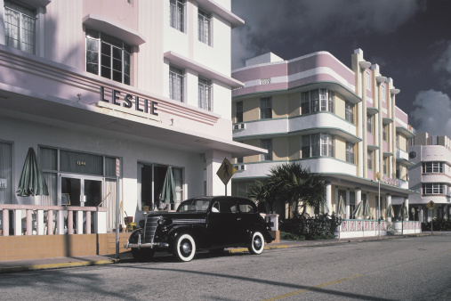 Miami「Street with vintage car , Miami , Florida」:スマホ壁紙(19)