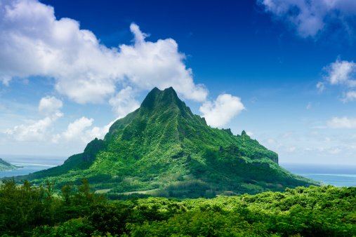 Volcanic Landscape「Mount Roto Nui Volcanic Mountain Moorea Island」:スマホ壁紙(7)