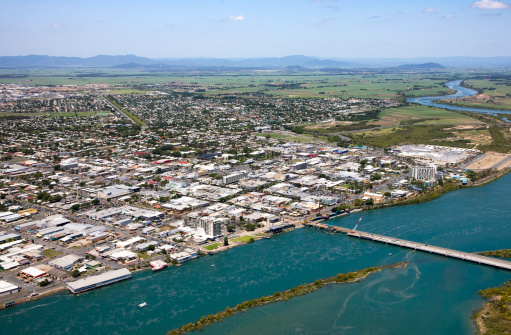 Queensland「Aerial of Mackay, Queensland. Australia」:スマホ壁紙(12)