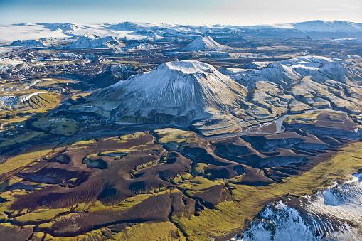 Carefree「Aerial of Mountains, Emstrur Area. Iceland」:スマホ壁紙(5)