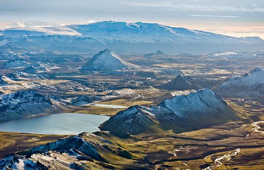 Carefree「Aerial of Mountains, Emstrur Area. Iceland」:スマホ壁紙(0)