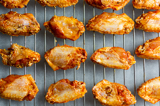 Chicken Wing「Preparing of spicy chicken wings, grid」:スマホ壁紙(18)