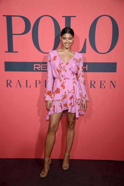 ピンク色のドレス「Polo Red Rush Launch Party With Ansel Elgort」:写真・画像(13)[壁紙.com]