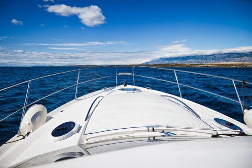 Cruise - Vacation「Foredeck of modern yacht」:スマホ壁紙(12)