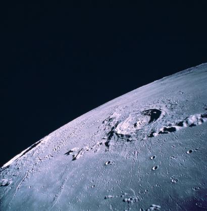 月「Moon, Eratosthenes crater, satellite view」:スマホ壁紙(3)