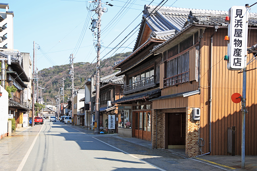 Tradition「Old private houses, shops at Futamiura, Ise, Mie, Japan」:スマホ壁紙(14)