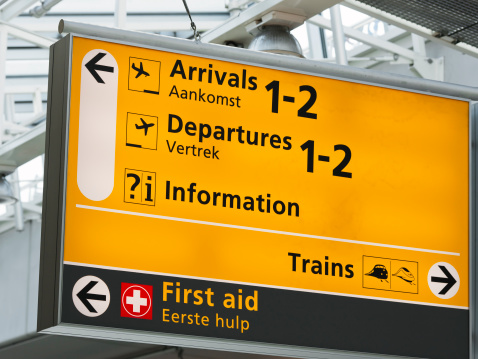 North Holland「Arrivals and Departures sign at Amsterdam Schiphol airport」:スマホ壁紙(3)