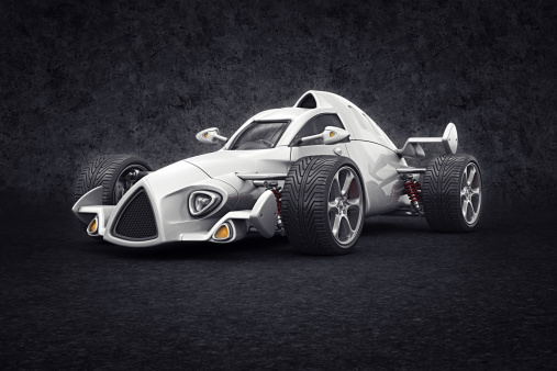 Hot Rod Car「white racecar」:スマホ壁紙(6)