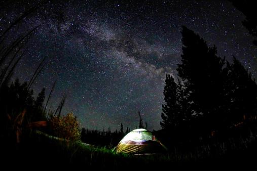star sky「Camping at night」:スマホ壁紙(16)