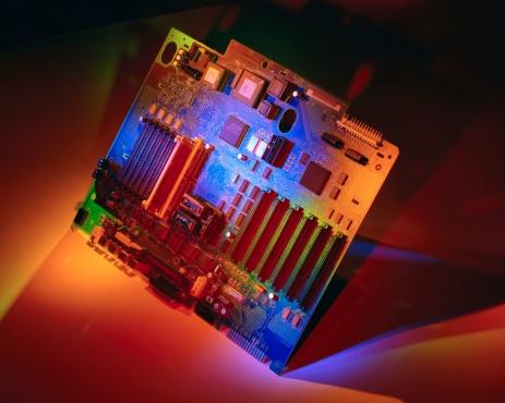 Mother Board「Computer Motherboard Under Colored Lights」:スマホ壁紙(17)