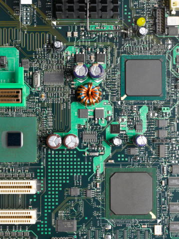 CPU「Computer mother board, close up」:スマホ壁紙(1)