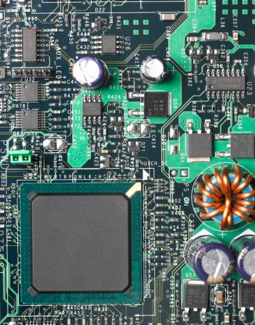 CPU「Computer mother board, close up」:スマホ壁紙(6)