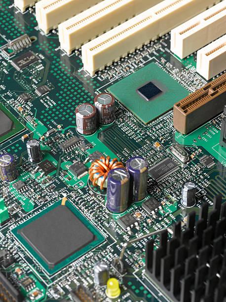 Computer mother board, close up:スマホ壁紙(壁紙.com)
