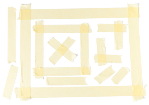 Corner「Masking tape design on a plain white paper」:スマホ壁紙(11)
