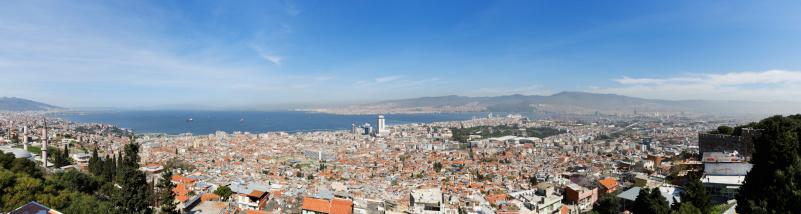 Aegean Sea「Turkey, Izmir, View of Kadifekale Castle」:スマホ壁紙(5)