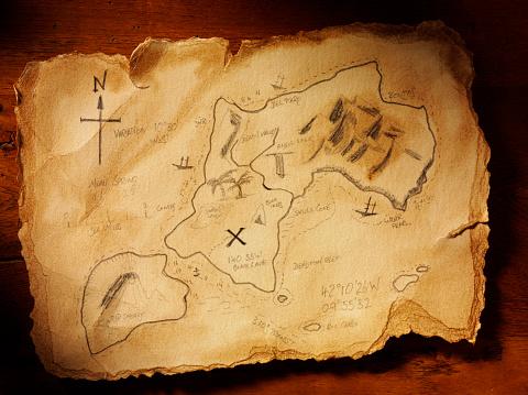 Map「手作りの宝の地図」:スマホ壁紙(19)