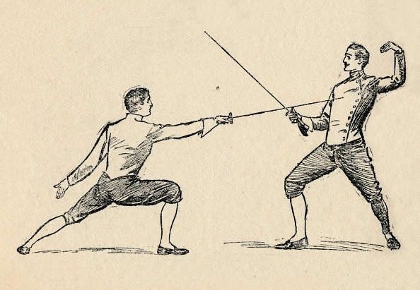 対面「'Parry In Tierce - Fencing', 1912」:写真・画像(10)[壁紙.com]