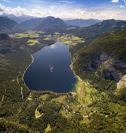 美しさ「ダッハシュタイン氷河、オーストリア航空パノラマ湖アルタウスゼー」:スマホ壁紙(10)