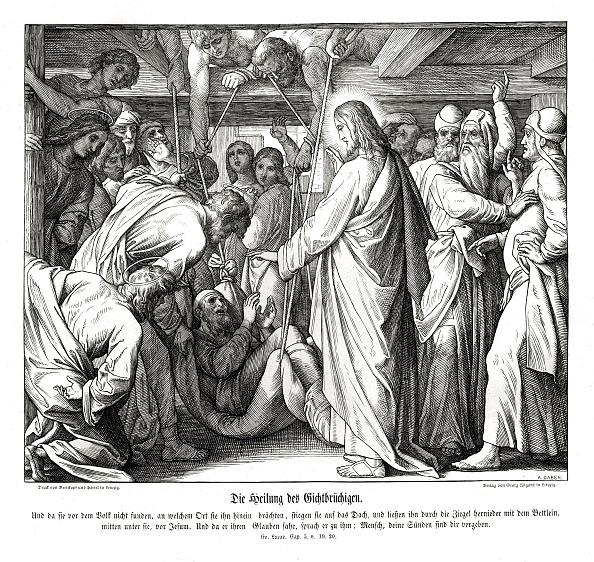 New Testament「Jesus heals the paralyzed man」:写真・画像(10)[壁紙.com]