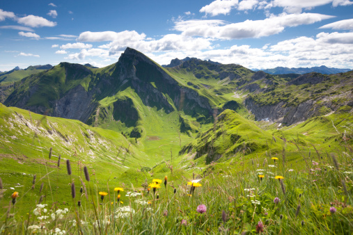 Lech Valley「view on mt. rote spitze, tannheimer berge, tirol, austria」:スマホ壁紙(8)