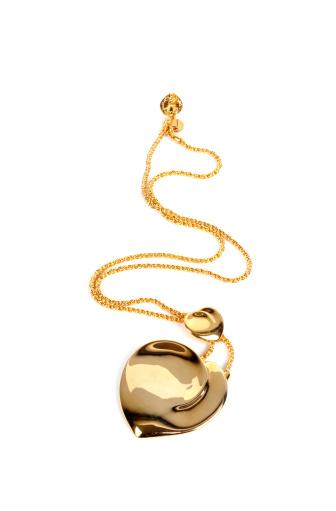 ハート「金のネックレス」:スマホ壁紙(14)
