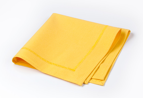 Napkin「Isolated yellow napkin twice folded on white background」:スマホ壁紙(16)