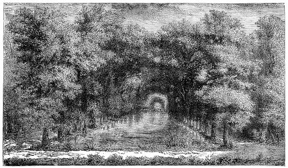 Ornamental Garden「Chantilly Park, Paris, France, (1885).」:写真・画像(16)[壁紙.com]