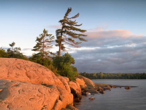Great Lakes「Sunrise on Georgian bay on windy day」:スマホ壁紙(18)