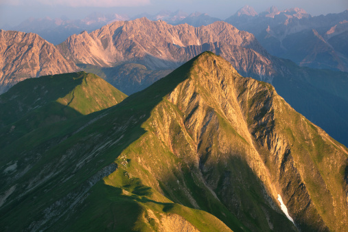 Lechtal Alps「Sunrise on mt. falschkogel, in the lechtaler alps」:スマホ壁紙(17)