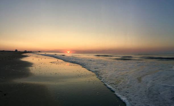 Sunrise on The Jersey Shore:スマホ壁紙(壁紙.com)