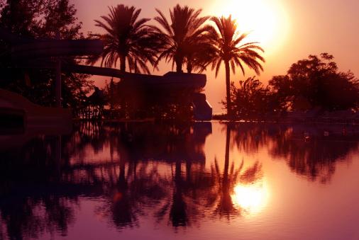 Sled「Sunrise on tropical beach」:スマホ壁紙(6)