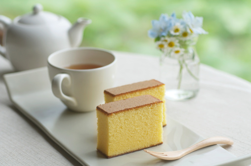 Tea「Japanese style sponge cakes with tea set」:スマホ壁紙(9)
