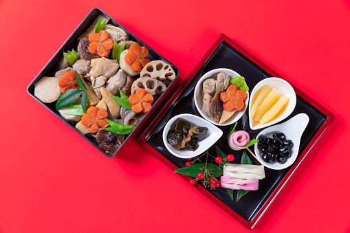festive food for the New Year「Japanese style new year's meal called Osechi」:スマホ壁紙(17)