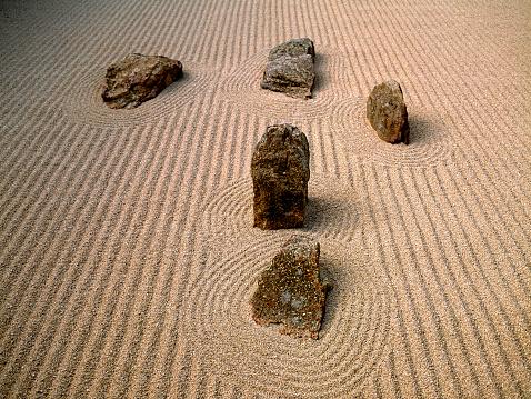 Japanese Rock Garden「Japanese stone rake Zen garden」:スマホ壁紙(19)