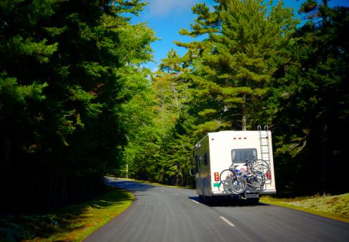 Dividing Line - Road Marking「RV in Acadia National Park」:スマホ壁紙(19)
