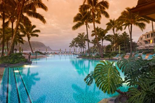 Hawaii Beach「Luxurious Hawaiian 5 star resort.」:スマホ壁紙(6)