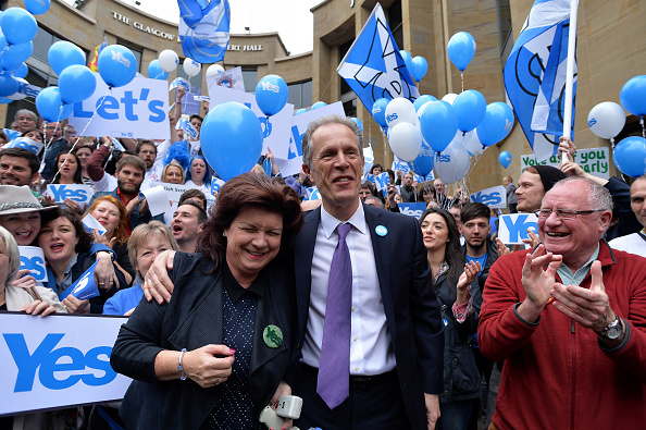 Glasgow - Scotland「The Final Day Of Campaigning For The Scottish Referendum Ahead Of Tomorrow's Historic Vote」:写真・画像(3)[壁紙.com]
