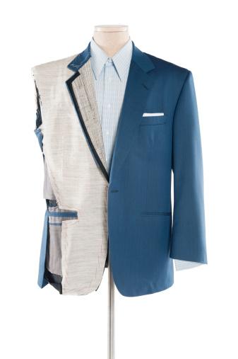 Designer Clothing「Suit on tailor's dummy over white background」:スマホ壁紙(13)