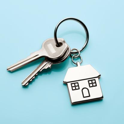 Keyring Charm「House door keys on cyan」:スマホ壁紙(19)